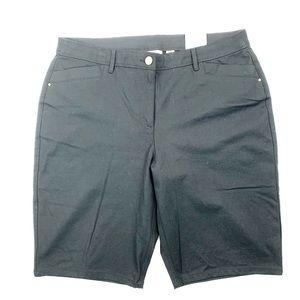 Chicos Shorts Plus Size 2.5 BlackGetaway Bermuda